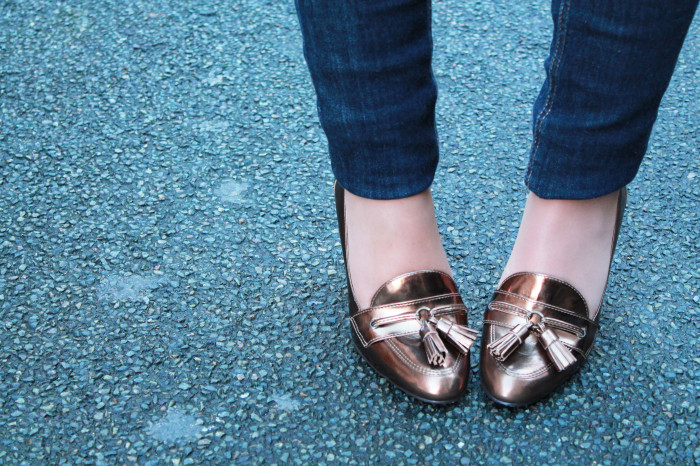 New babies: Metallic shoes
