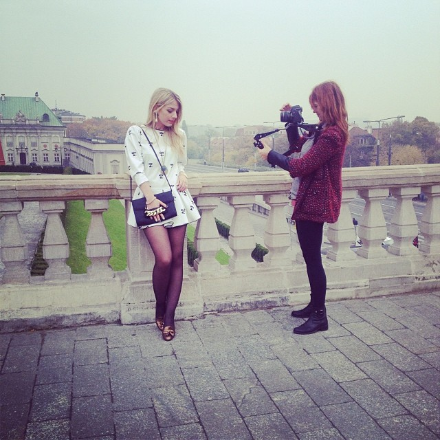 Preview of today's shooting ! Now heading to Poznan #thestilettoholicinwarsaw