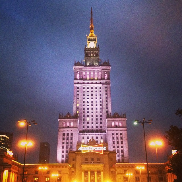 Back in Paris but already missing #warsaw by night