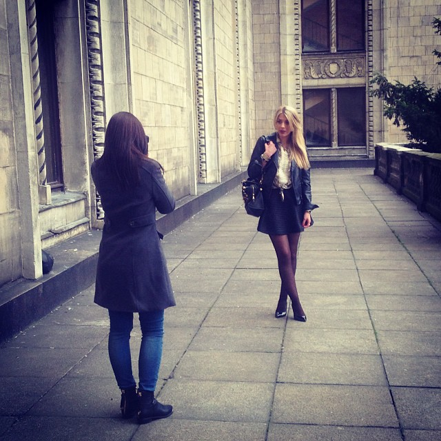 First shooting un Warsaw with @patrycjaniedzinska